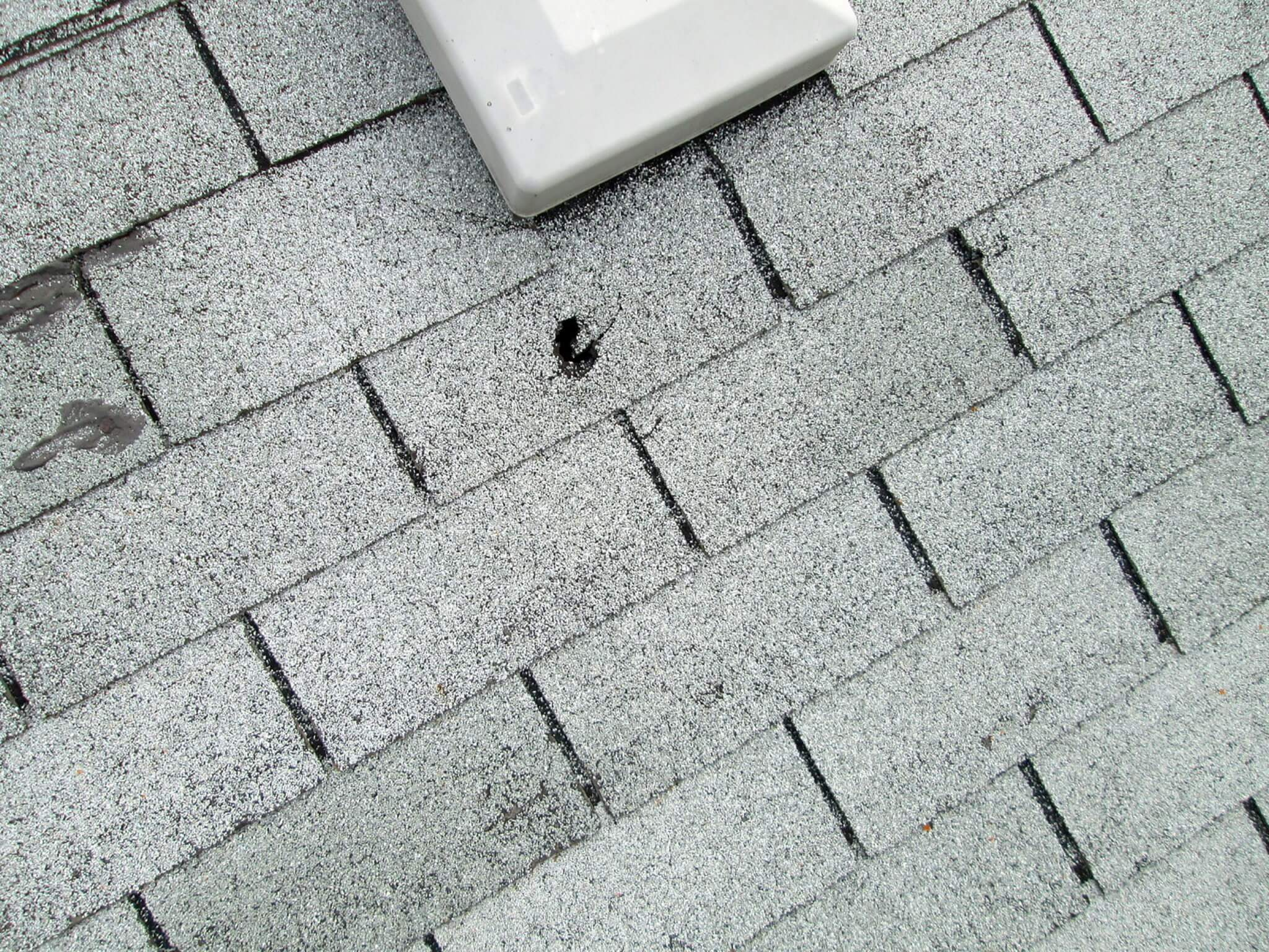 hail damage in roof