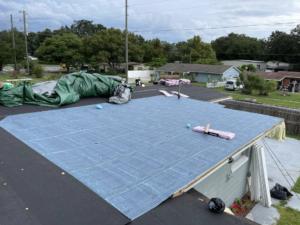 Leak roof repair
