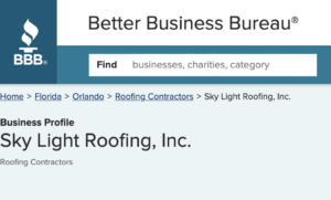 BBB Sky Light Roofing